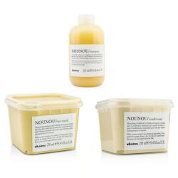 Davines - Davines Nounou Yapılandırıcı Şampuan - Krem - Maske 3'lü Set