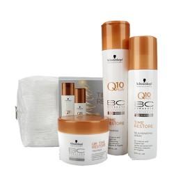 Schwarzkopf - Schwarzkopf BC Bonacure Q10 Yaşlanma Karşıtı Set Şampuan - Krem- Maske