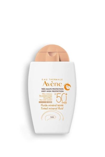 Avene - Avene Fluide Mineral Hassas Ciltler İçin Renkli Güneş Koruyucu SPF 50+ 40 ml