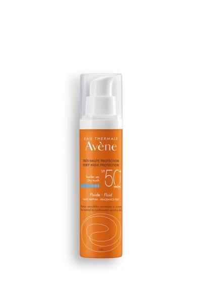Avene - Avene Fluıde Normal ve Karma Ciltler İçin Güneş Koruyucu Krem SPF 50+ 50 ml