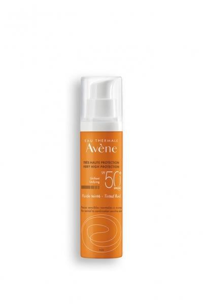Avene - Avene Fluide Tinted Cilt Tonu Eşitleyen Güneş Koruyucu SPF 50+ 50 ml