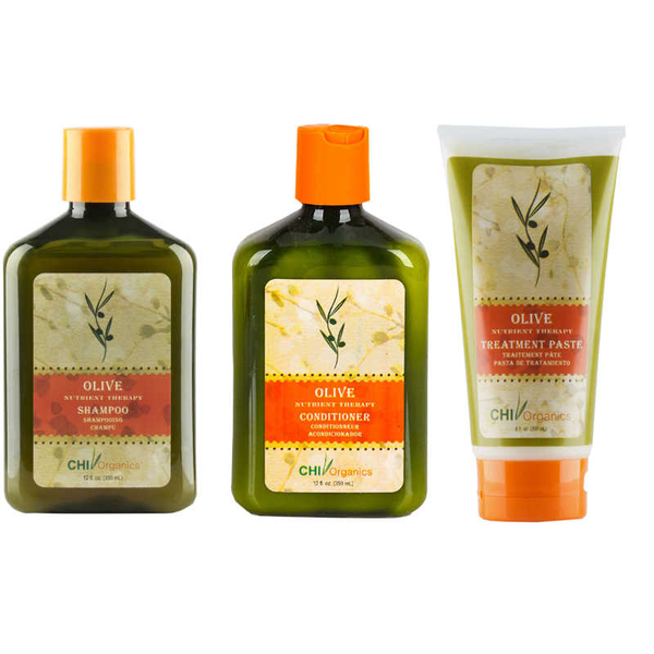 Chi - CHI Organics Olive Nutrient Therapy Zeytinyağlı Saç Bakım Seti