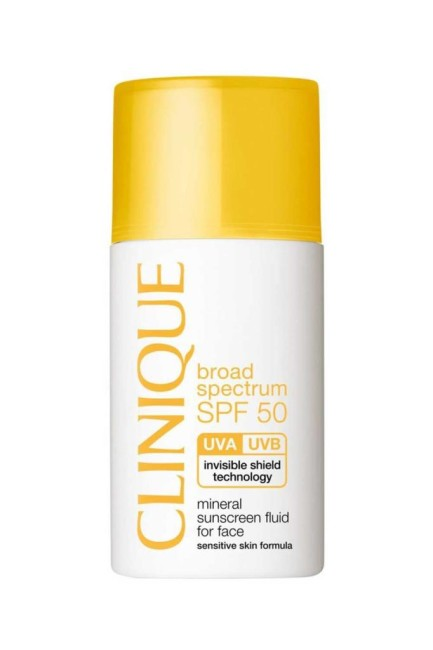 Clinique - Clinique Mineral Sunscreen Fluid Face SPF 50 Yüz İçin Hassas Güneş Kremi 30ml