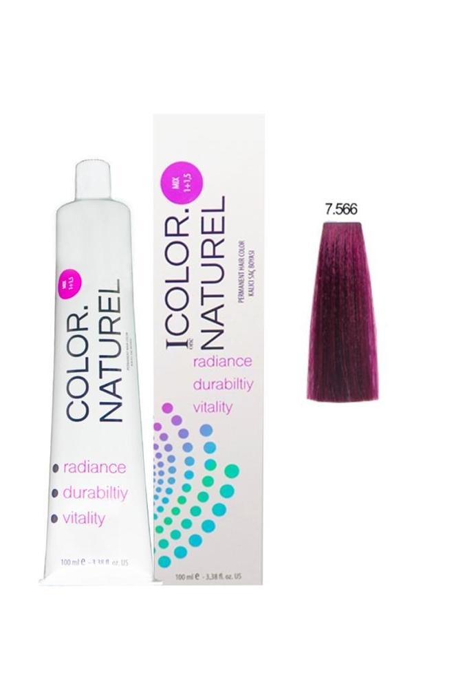 Color Naturel Saç Boyası 7.566 Açık Akaju Kızıl 100 ml