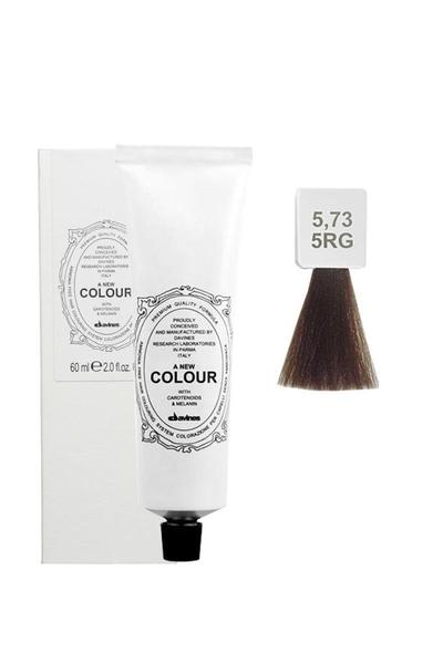 Davines - Davines A New Colour Saç Boyası 5,73 Açık Kahve Bej Altın 60 ml