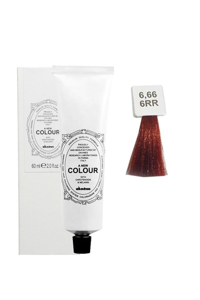 Davines - Davines A New Colour Saç Boyası 6.66 Koyu Kumral Yoğun Kızıl 60 ml
