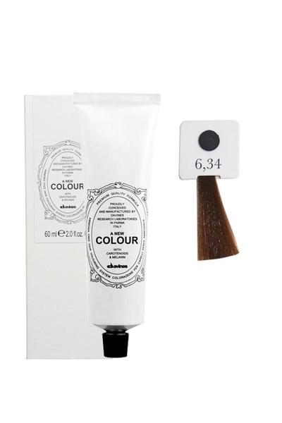 Davines - Davines A New Colour Saç Boyası 6,34 Altın Bakır Koyu Kumral 60 ml