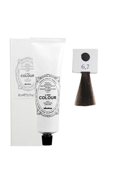 Davines - Davines A New Colour Saç Boyası 6,7 Koyu Kumral Bej 60 ml