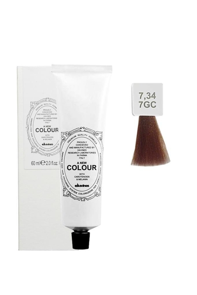 Davines - Davines A New Colour Saç Boyası 7,34 Orta Altın Bakır Kumral 60 ml