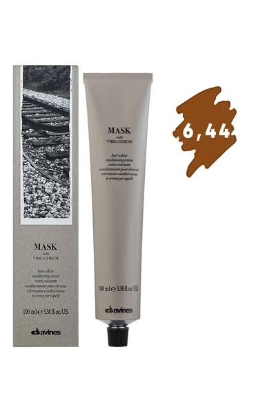 Davines - Davines Mask Vibrachrom Saç Boyası 6,44 Koyu Kumral Yoğun Bakır 100 ml