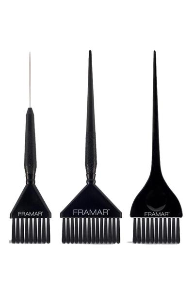 Framar - Framar Variety Saç Boyama Fırçası Seti 3' lü Siyah