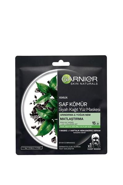 Garnier - Garnier Matlaştırıcı Saf Kömür Siyah Kağıt Yüz Maskesi 28 g