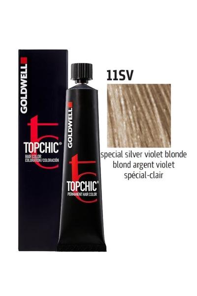 Goldwell - Goldwell Topchic Saç Boyası 11SV Özel Gümüş Mor Sarı 60 ml