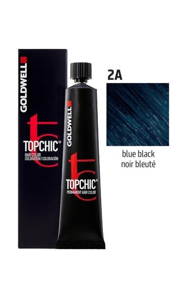 Goldwell - Goldwell Topchic Saç Boyası 2A Mavi Siyah 60 ml