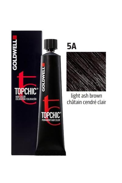 Goldwell - Goldwell Topchic Saç Boyası 5A Açık Küllü Kahve 60 ml
