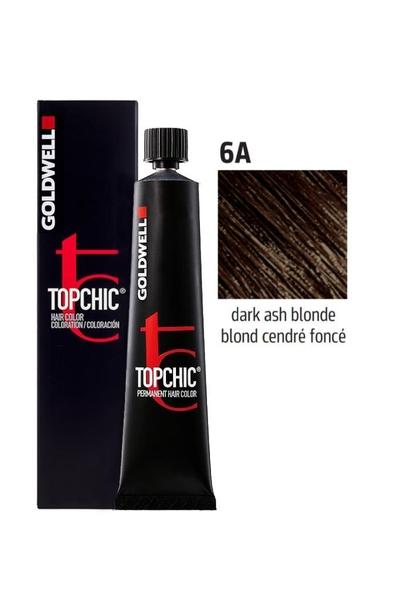 Goldwell - Goldwell Topchic Saç Boyası 6A Koyu Küllü Kumral 60 ml