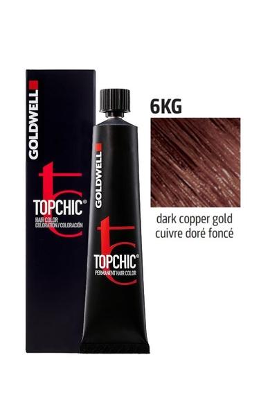 Goldwell - Goldwell Topchic Saç Boyası 6KG Koyu Bakır Altın 60 ml