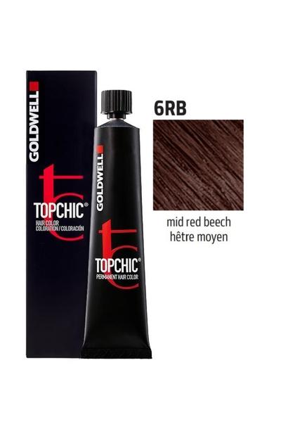 Goldwell - Goldwell Topchic Saç Boyası 6RB Orta Kızıl Kayın 60 ml