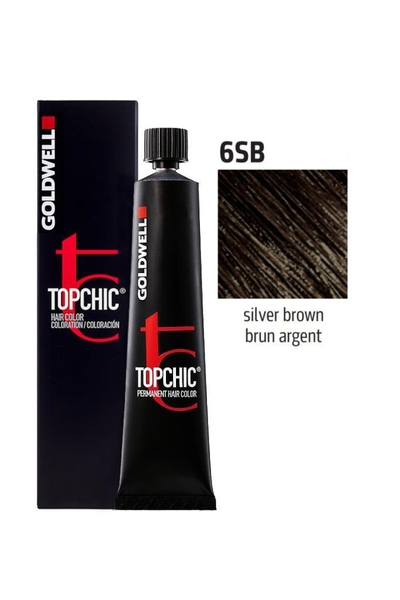 Goldwell - Goldwell Topchic Saç Boyası 6SB Gümüş Kahve 60 ml
