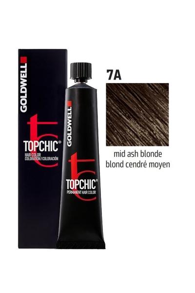 Goldwell - Goldwell Topchic Saç Boyası 7A Orta Küllü Kumral 60 ml