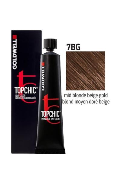 Goldwell - Goldwell Topchic Saç Boyası 7BG Orta Kumral Bej Altın 60 ml
