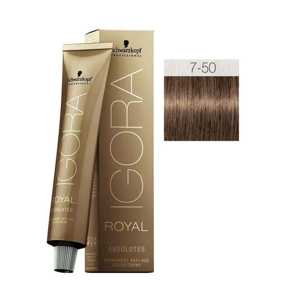 Schwarzkopf - Igora Royal Absolutes 7-50 Kumral-Doğal Altın