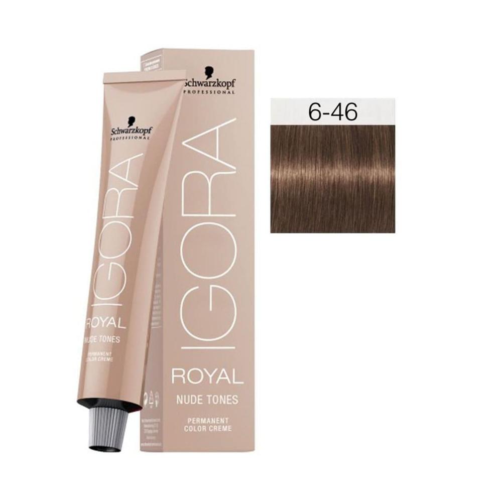 Igora Royal Nude Tones 6-46 Koyu Kumral-Bej Çikolata