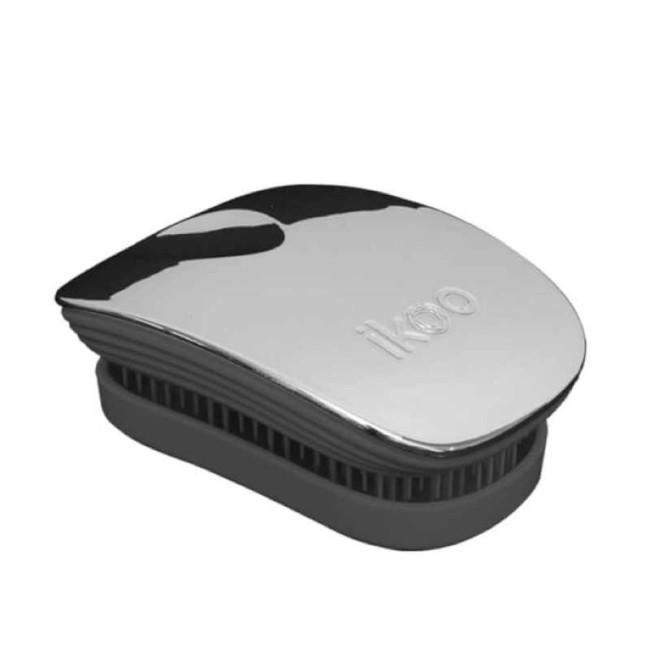 Ikoo - IKOO Pocket Black Oyster Metallic Siyah - İstiridye Metalik Tarak