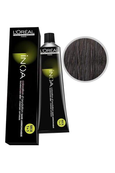 inoa - İnoa Saç Boyası 4.15 Kahve Küllü Akaju 60 ml
