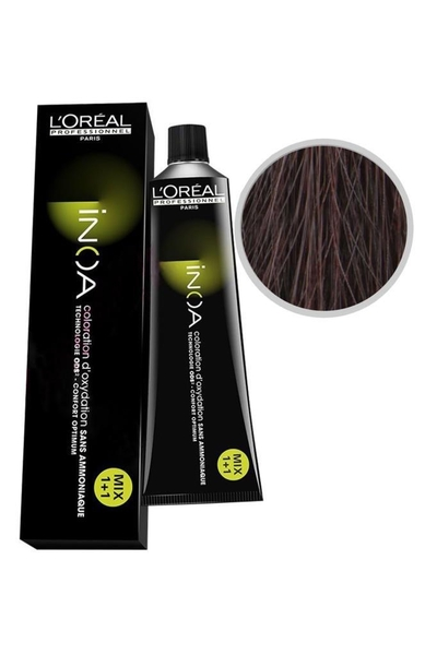 inoa - İnoa Saç Boyası 5.56 Açık Kahve Akaju Kızıl 60 ml