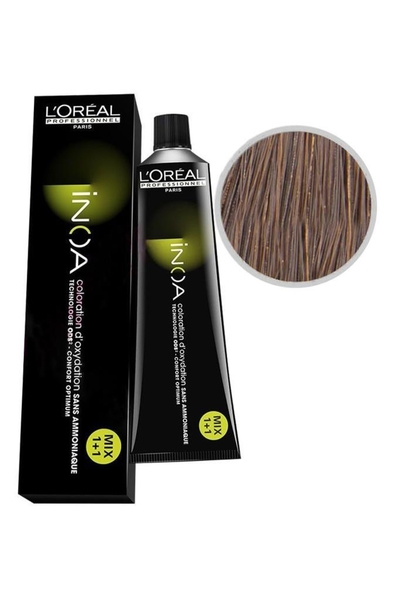 inoa - İnoa Saç Boyası 6.13 Orta Karamel Kahve 60 ml
