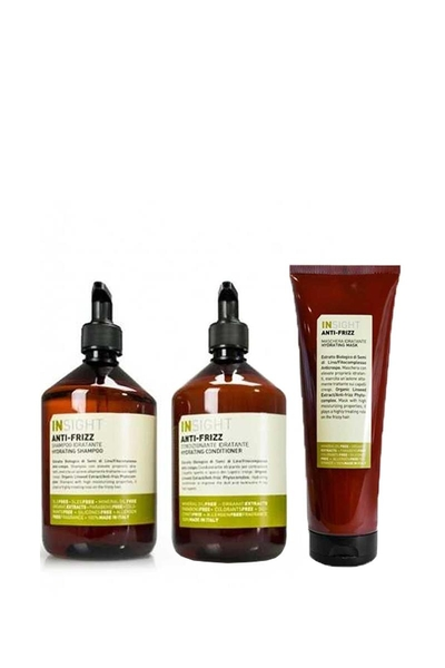 Insight - Insight Anti Frizz Kabarma Önleyici Şampuan 400ml+Krem 400ml+Maske 250ml
