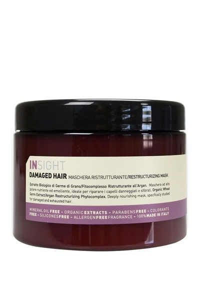 Insight - Insight Damaged Hair Restructurizing Mask - Hasarlı Saç Maskesi 500ml