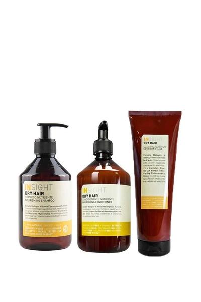 Insight - Insight Dry Hair Nourishing Kuru Saç Şampuan 400ml+Krem 400ml+Maske 250ml