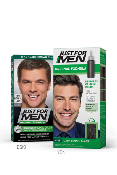 Just For Men - Just For Men Saç Boyası KOYU KAHVERENGİ - SİYAH