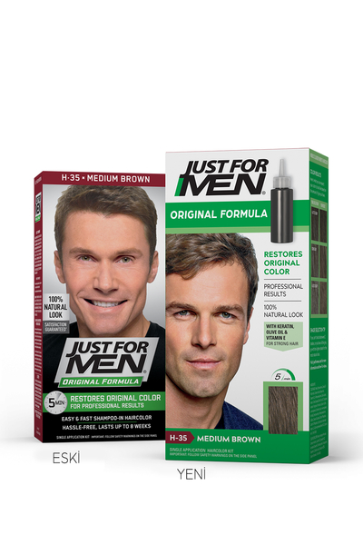 Just For Men - Just For Men Saç Boyası ORTA KAHVERENGİ