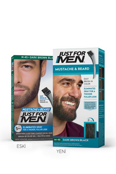 Just For Men - Just For Men Sakal ve Bıyık Boyası KOYU KAHVERENGİ - SİYAH
