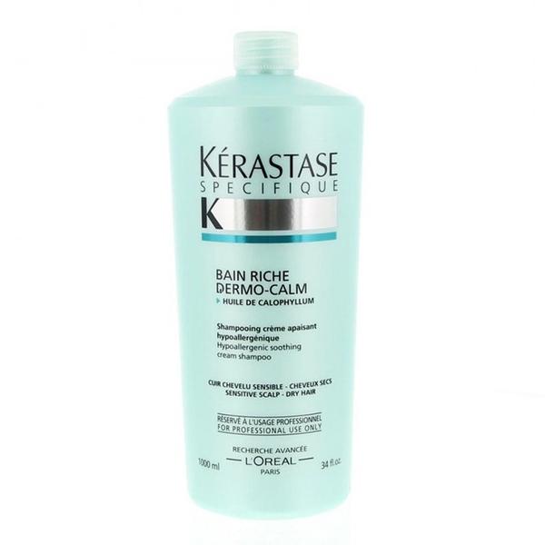 Kerastase - Kerastase Bain Riche Dermo-Calm Kuru Saçlar İçin Kremli Şampuan 1000ml