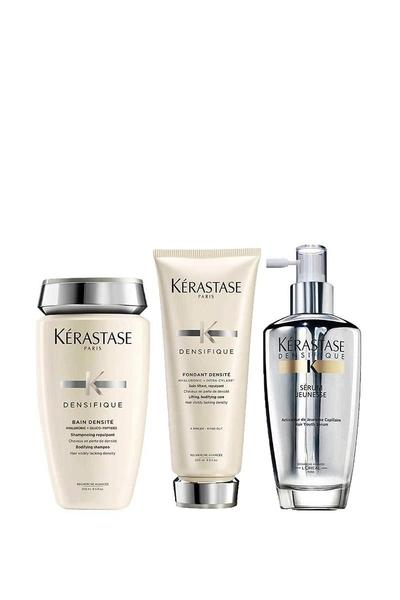 Kerastase - Kerastase Densifique Bain Densite Yoğunlaştırıcı Şampuan 250ml+Krem 200ml+Yoğunlaştırıcı Saç Serumu 120ml