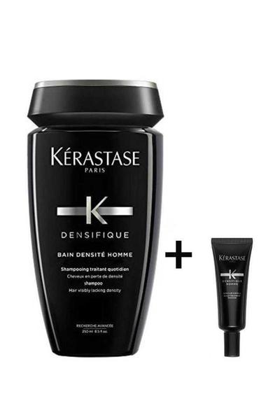 Kerastase - Kerastase Densifique Homme Erkek Saç Yoğunlaştırıcı Set 30x6 Serum + Şampuan 250ml