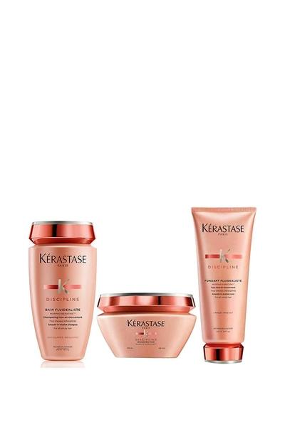 Kerastase - Kerastase Discipline Boyalı Saçlar İçin Sülfatsız Şampuan 250ml+Maske 200ml+Krem 200ml