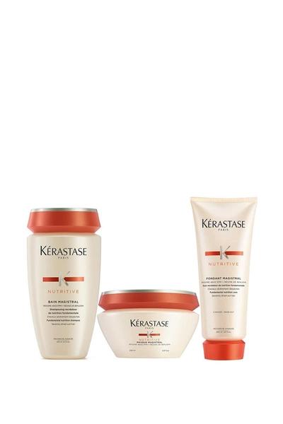 Kerastase - Kerastase Nutritive Aşırı Kuru Saçlar Termo Etkili Şampuan 250ml+Maske 200ml+Krem 200ml