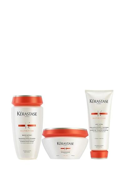 Kerastase - Kerastase Nutritive irisome Bain Satin 1 Şampuan 250ml+ince Maske 200ml+Lait Vital krem 200ml