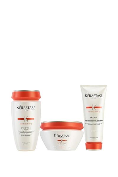 Kerastase - Kerastase Nutritive irisome Bain Satin 2 Şampuan 250ml+Kalın Maske 200ml+Lait Vital Krem 200ml