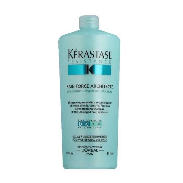 Kerastase - Kerastase Resistance Force Architecte Yıpranmış Saçlar İçin Şampuan 1000 ml