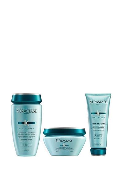 Kerastase - Kerastase Resistance Force Architecte Yıpranmış Saçlar İçin Şampuan 250ml+Maske 200ml+Krem 200ml