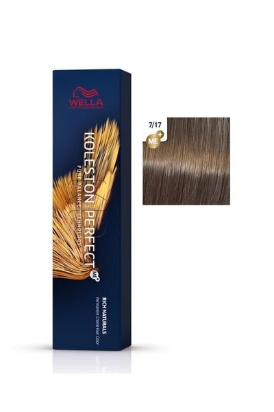 Wella - Koleston Perfect Me+ Saç Boyası 7/17 Orta Küllü Altın Kumral 60 ml