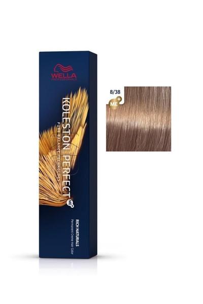 Wella - Koleston Perfect Me+ Saç Boyası 8/38 Açık Kumral Altın İnci 60 ml