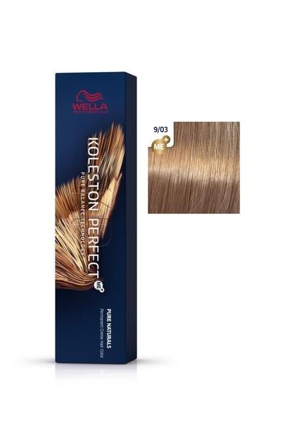 Wella - Koleston Perfect Me+ Saç Boyası 9/03 Ekstra Açık Doğal Altın Sarısı 60 ml