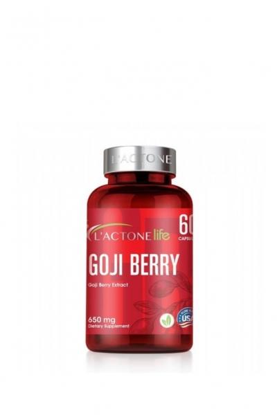 L'actone - Lactone Goji Berry Takviye Edici Gıda 650 mg 60 Kapsül
